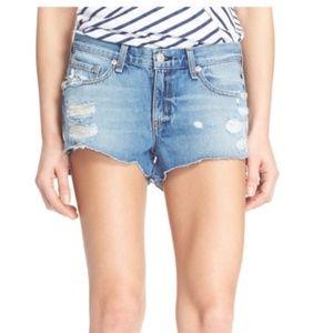 Rag & Bone Destroyed Cutoff Denim Shorts NEW